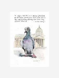 Pleased Pigeon by Luci Power
